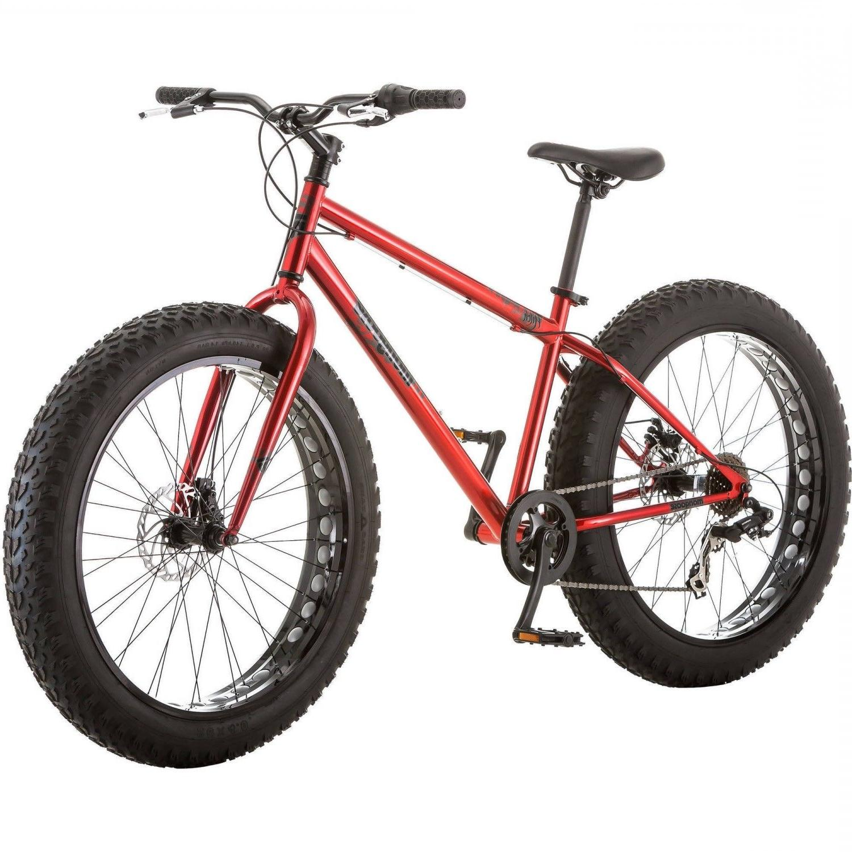 "26"" Mongoose Hitch Men's All Terrain Fat Tire Bike Red Seven"