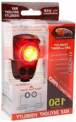 CygoLite Hotshot Pro 150 Lumens LED Bicycle Rear Tail Light