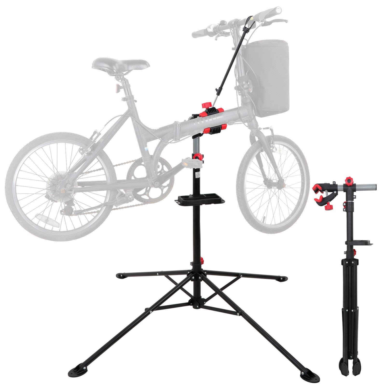 "HQ Bike Repair Stand Rack Steel Body 74"" Telescopic Arm Bicy"