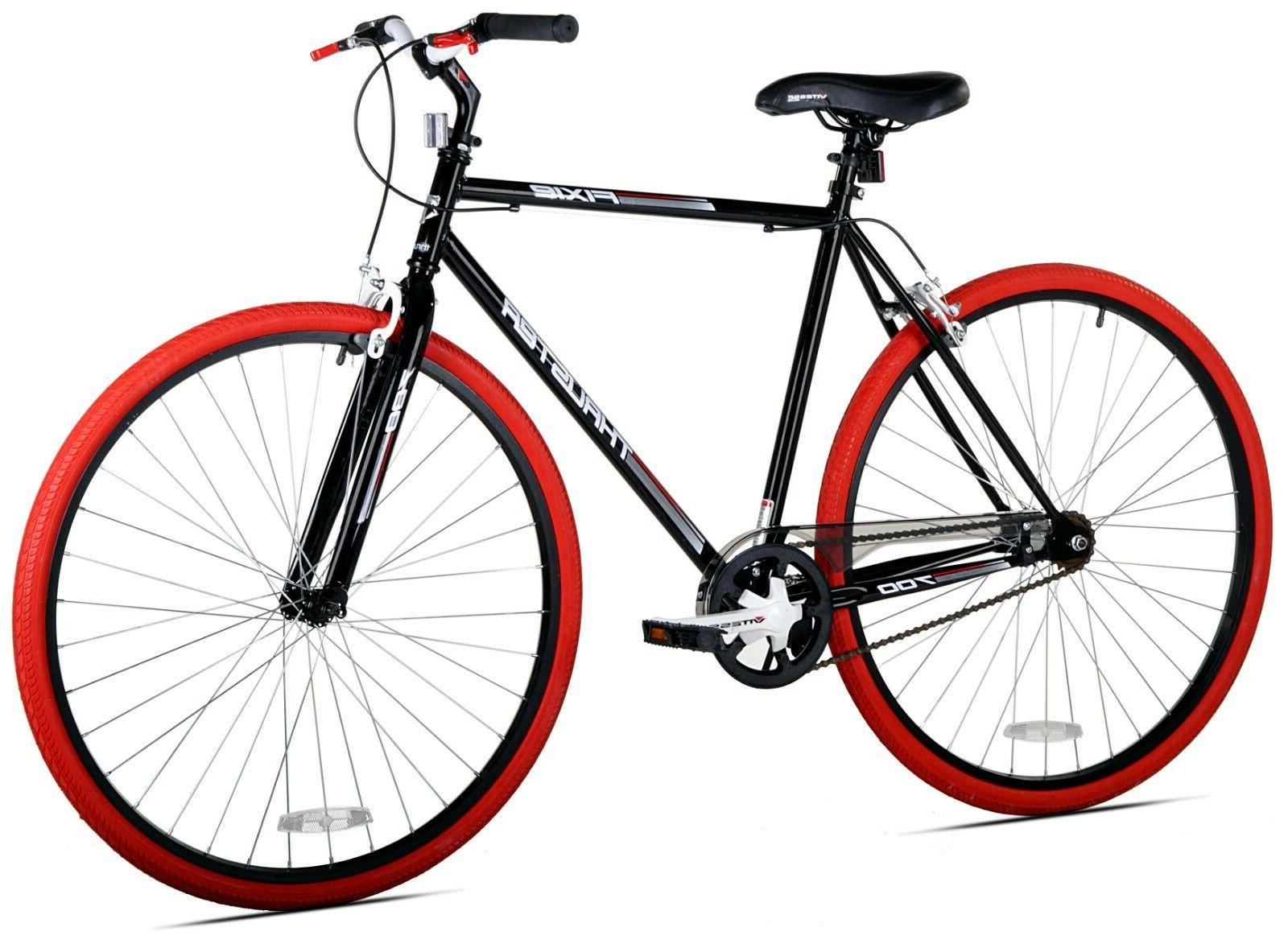 Kent 700c Thruster Fixie Men's Bike -  Black - Red - New