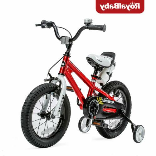RoyalBaby Kids Girls Freestyle Bicycle14 inch with Training