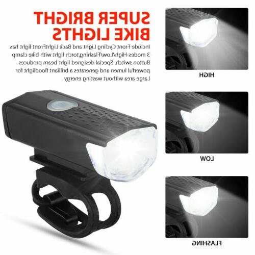 USB Rechargeable Headlight Bike Lights Front Lamp USA