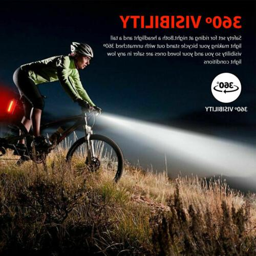 USB Rechargeable Headlight Bike Front Lamp Cycling USA