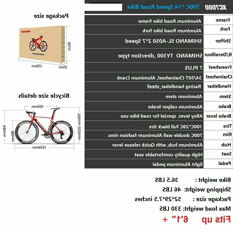 Light Road Shimano 14 Bikes 54cm