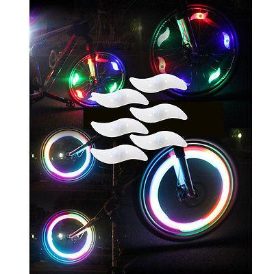 6 Bike Light Cycling Spoke Tire Tyre LED Multi-color