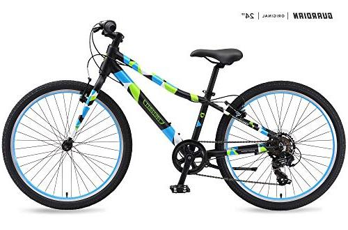 Guardian Lightweight Kids Bike 24 Inch, Safe Patented SureSt