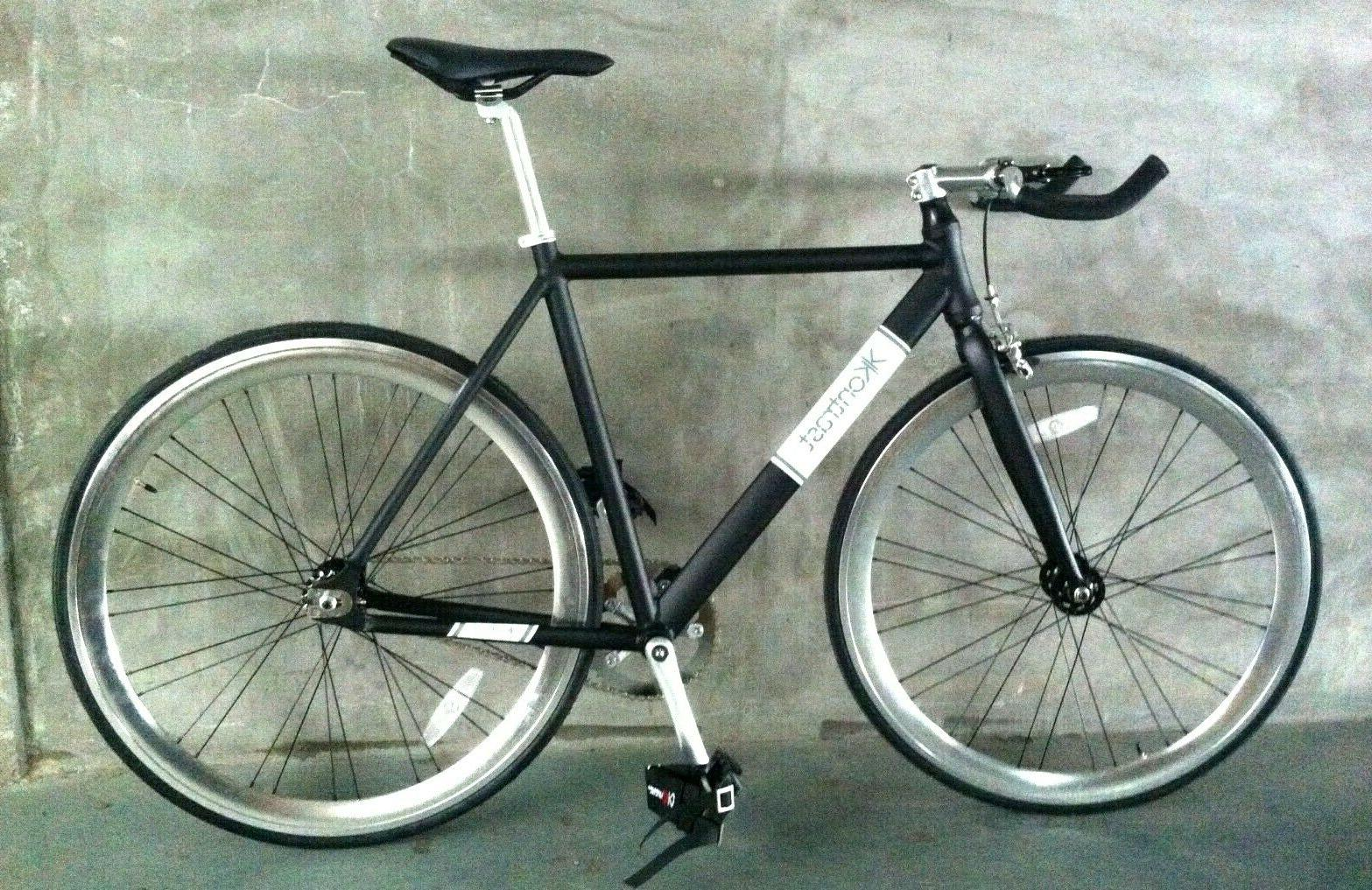 lightweight aluminum complete fixie track road bike