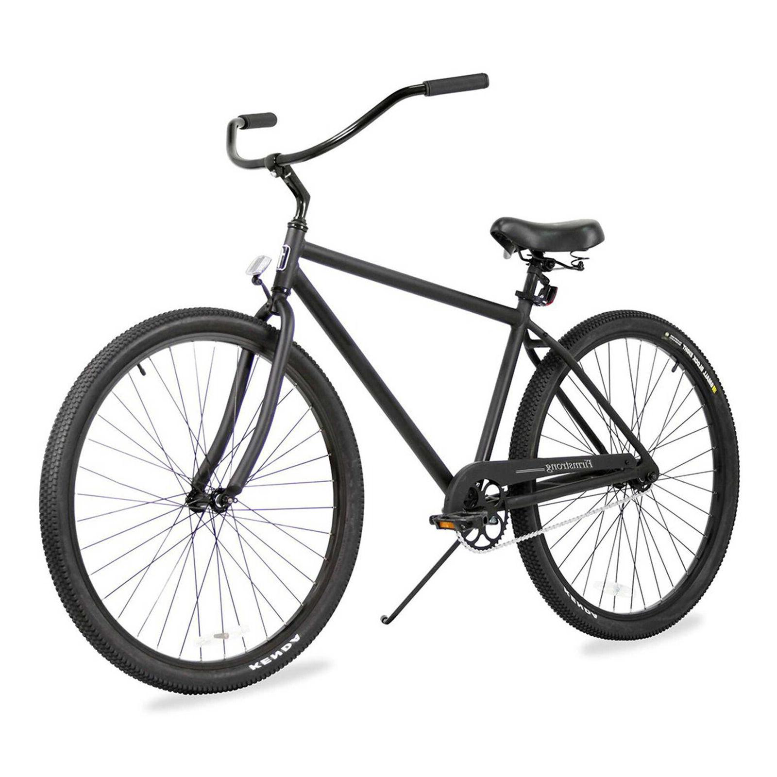 "Firmstrong Men's Black Rock 29"" Single Speed Beach Cruiser B"