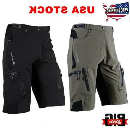 Men's Cycling Mountain Bike Bicycle Shorts Pants Zippered Po