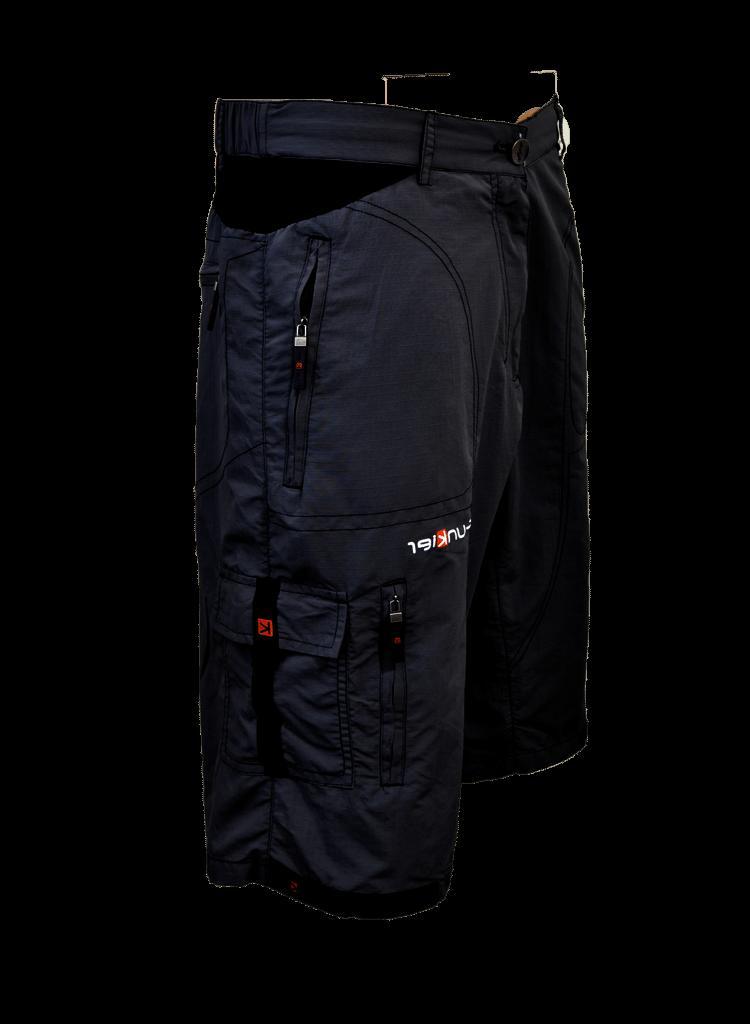 Funkier Men's Baggy Cycling, Mountain bike shorts, Black Q