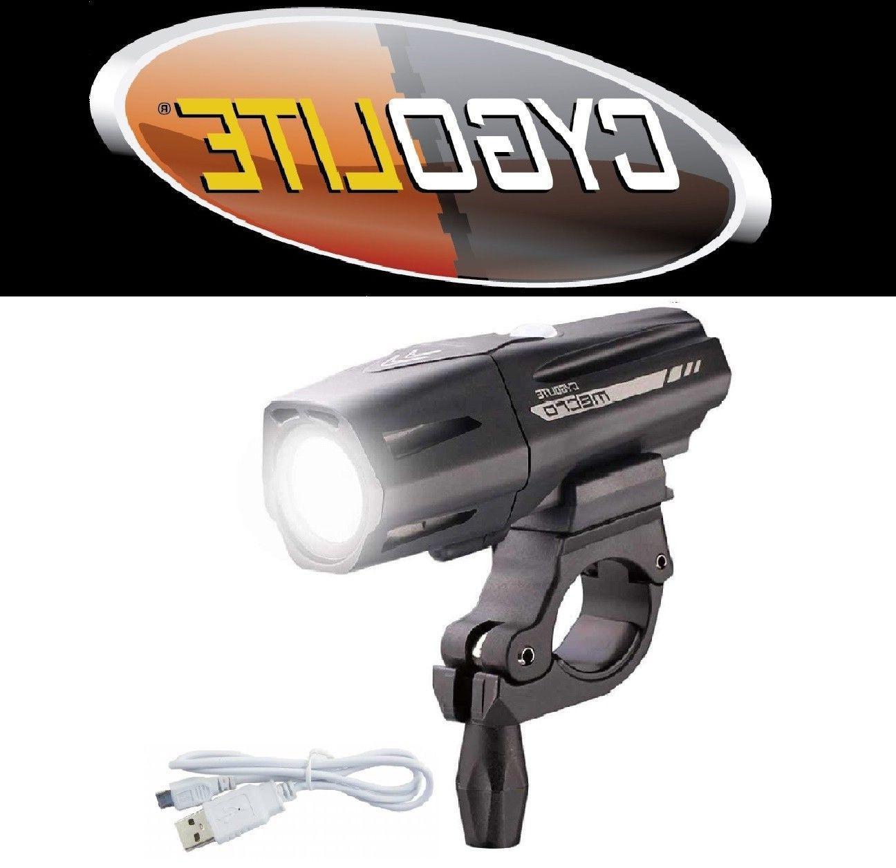 NEW Cygolite Metro Plus 650 Lumens Headlight Bike Light USB
