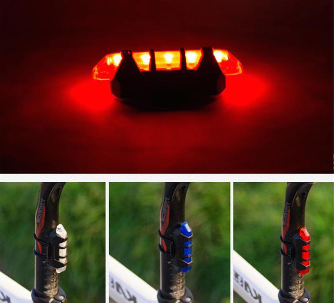 RECHARGEABLE frame LED for Cycling Bike Bicycle Rear bar hea
