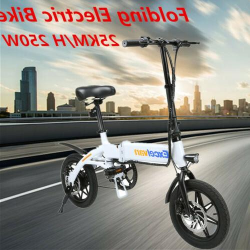 "Mini Electric Bike Two Wheels Bicycle 14"" 36V 250W Adults Po"