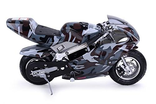 Rosso Motors Motorcycle for Kids cc Mini Pocket Ghost Black - EPA Approved