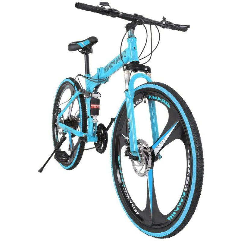 26in 21 speed folding mountain bike bicycle