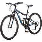 "Mongoose 27.5"" Men Mountain Bike Aluminium Navy Bicycle Dual"