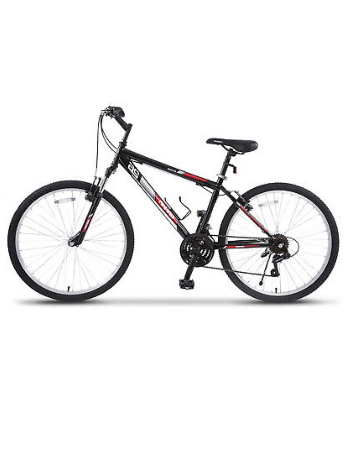 "18 Speed 26"" Mountain Bike Bicycle Shimano Hybrid Black Red"