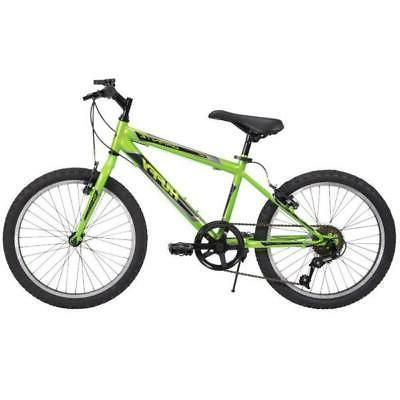 Huffy Mountain Bike 20 Green Speed Granite