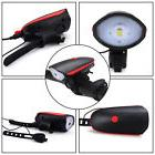 Mountain Bike Headlight with Safety Horn Bicycle USB Chargin