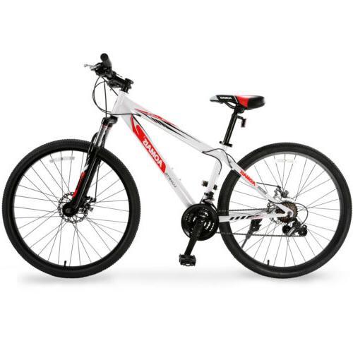 "27.5"" Mountain Bike Hybrid Bike 21 Speed Front Suspension Bi"