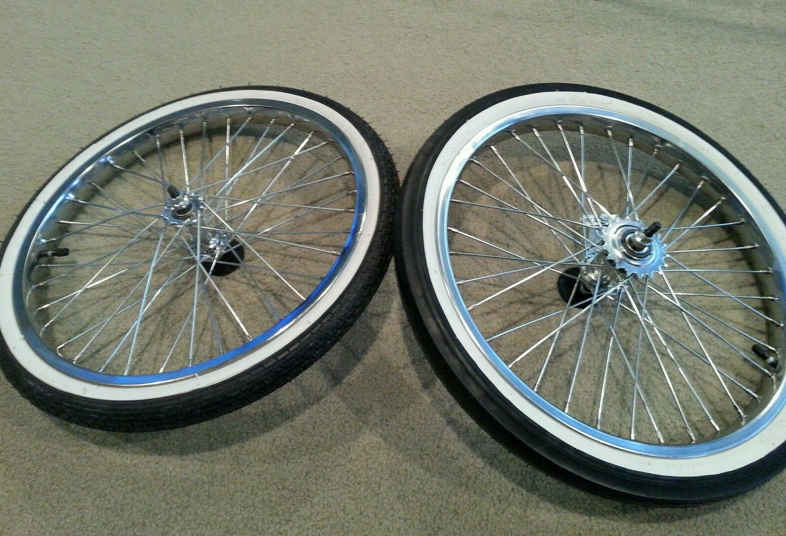 "NEW 20""BICYCLE & TUBES, WORKS ON SCHWINN STINGRAY MUSCLE WHITE WALLS"