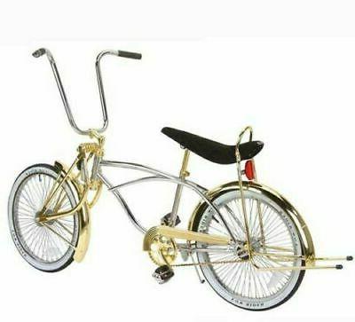 new 20 lowrider bike bicycle chrome gold