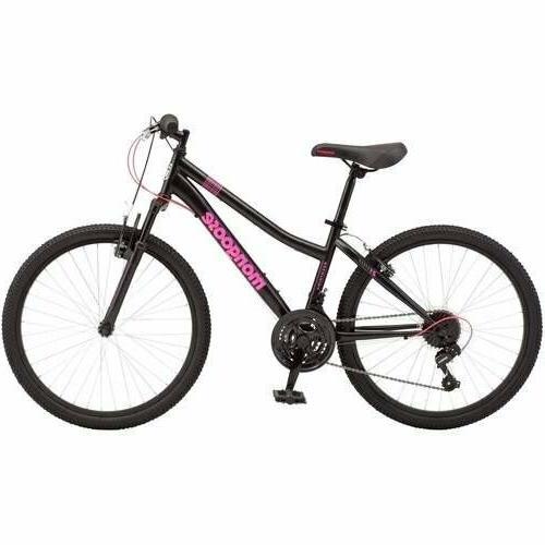 "New Mongoose 24"" Excursion Mountain Bike Girls Female Black/"