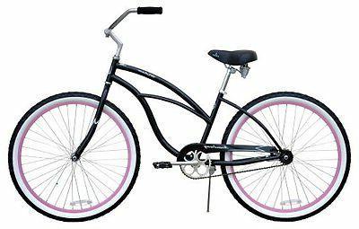 "NEW 26"" Women Beach Cruiser Bike Urban chrome"