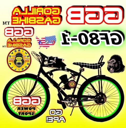 "NEW DIY 2-STROKE 66CC/80CC MOTORIZED BICYCLE KIT WITH 26"" PO"