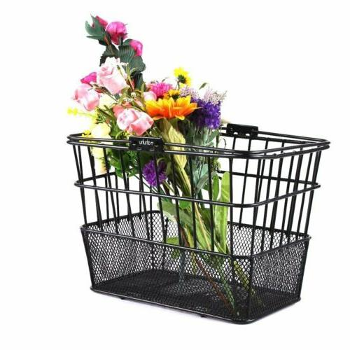 NEW Ohuhu Front Wire Mesh Bottom Lift Off Bicycle Basket Bla