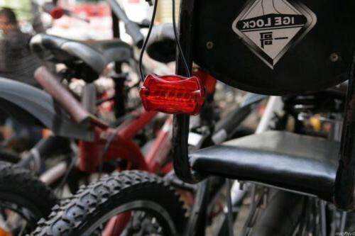 New Waterproof 5 Lamp Bike Front Head Light + Safety
