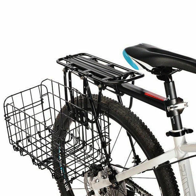 Pro Folding Foldable Bicycle Bike Wire Basket Front Bag Rear