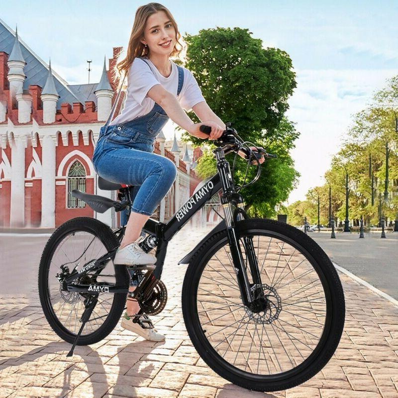 outroad mountain bike 21 speed 26in folding