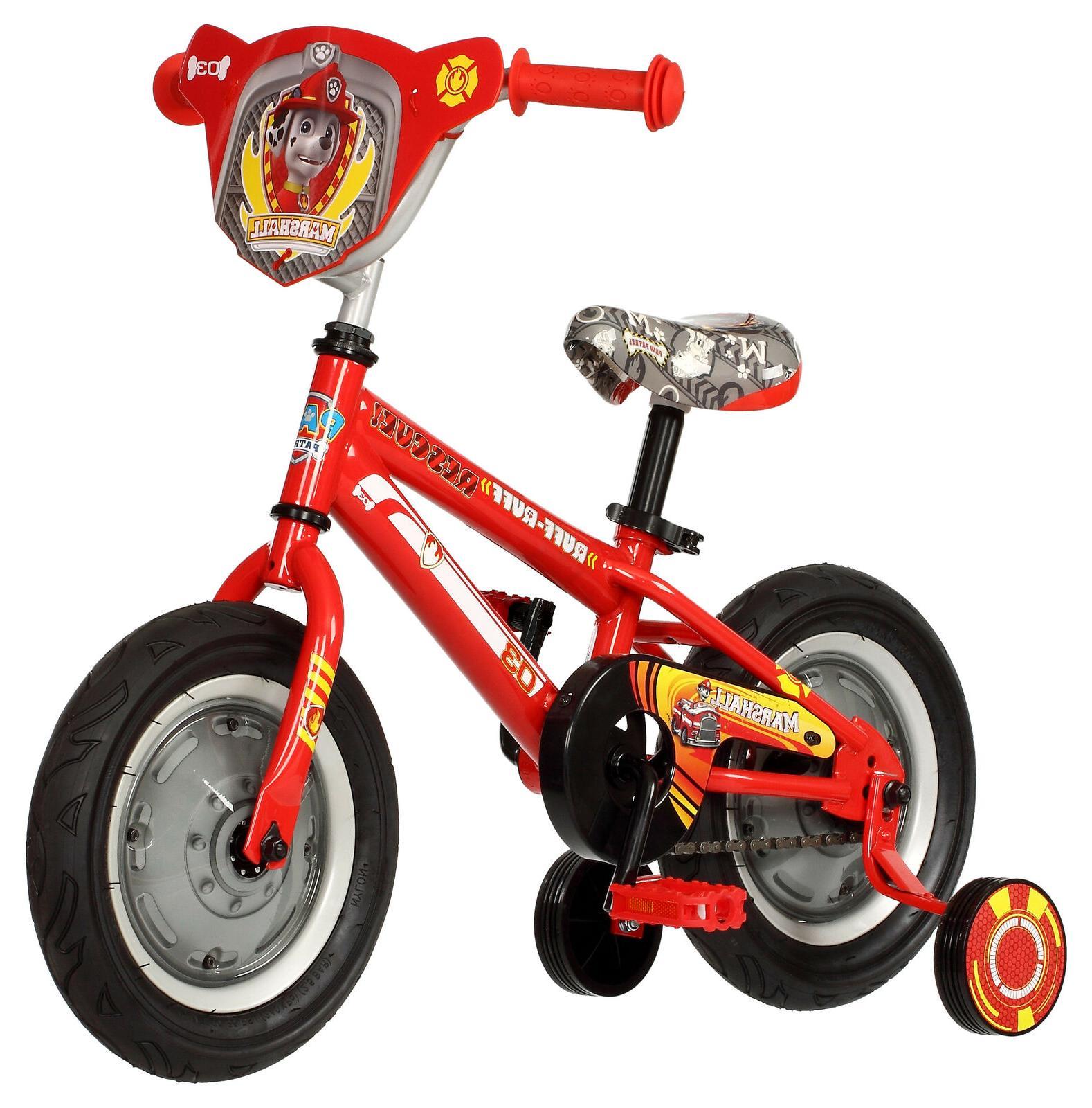12-inch Paw Patrol Boys Bike Toddler Bicycle Training Wheels