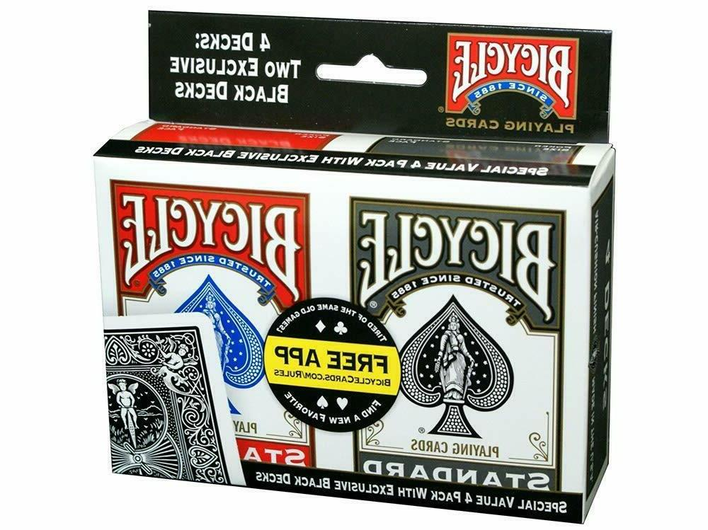 playing card 4 pack standard index