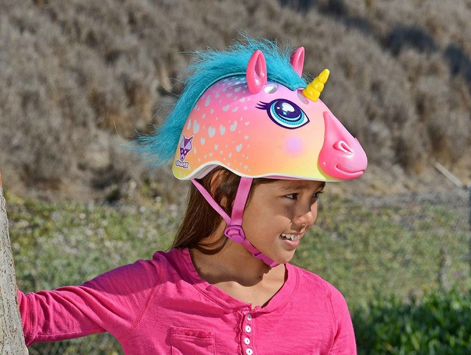 Raskullz Unicorn Kid Bike Helmet 3D Safety Bicycle Sports Scooter Skating Gift