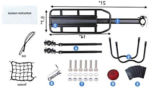 Dirza Release Alloy Bicycle Carrier 115 Lb Capacity Easy to