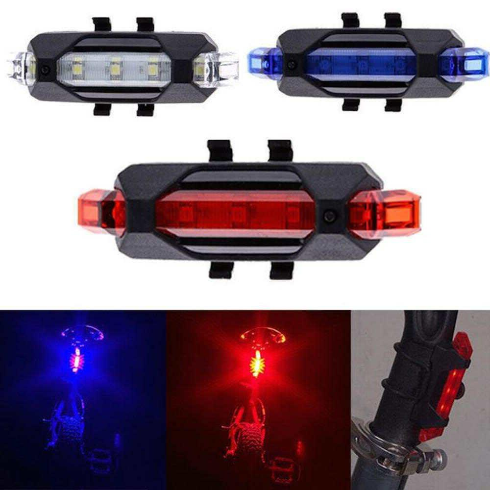 rechargeable micro usb flash led bicycle bike