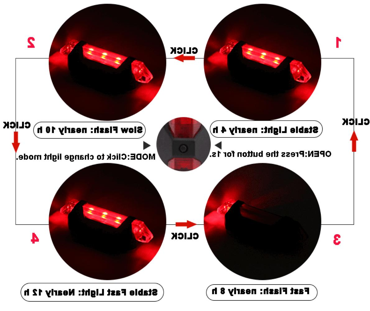 RECHARGEABLE LED Flashing Tail Light