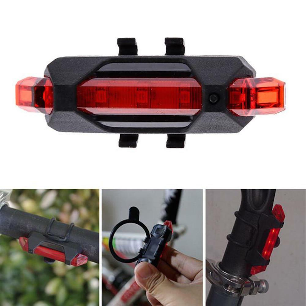 RECHARGEABLE Waterproof Flashing Modes Tail