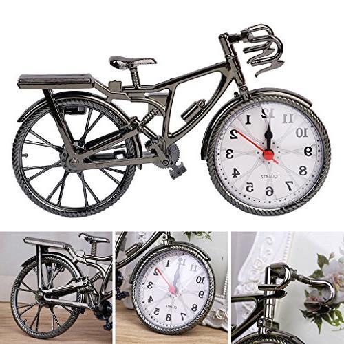 SimpleLif Plastic Bicycle Clock Home Decoration Clocks Ornament
