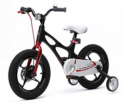 RoyalBaby Shuttle kids lightweight magnesium frame bike for boys girls, 14 inch 16 training wheels 3-6