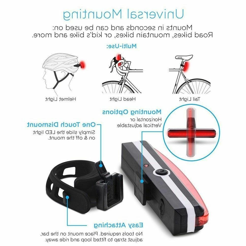 USB Rechargeable Light Helmet Bike Safe