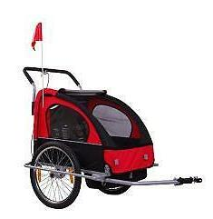 SALE RED 2IN1 BABY CHILD BIKE BICYCLE TRAILER STROLLER
