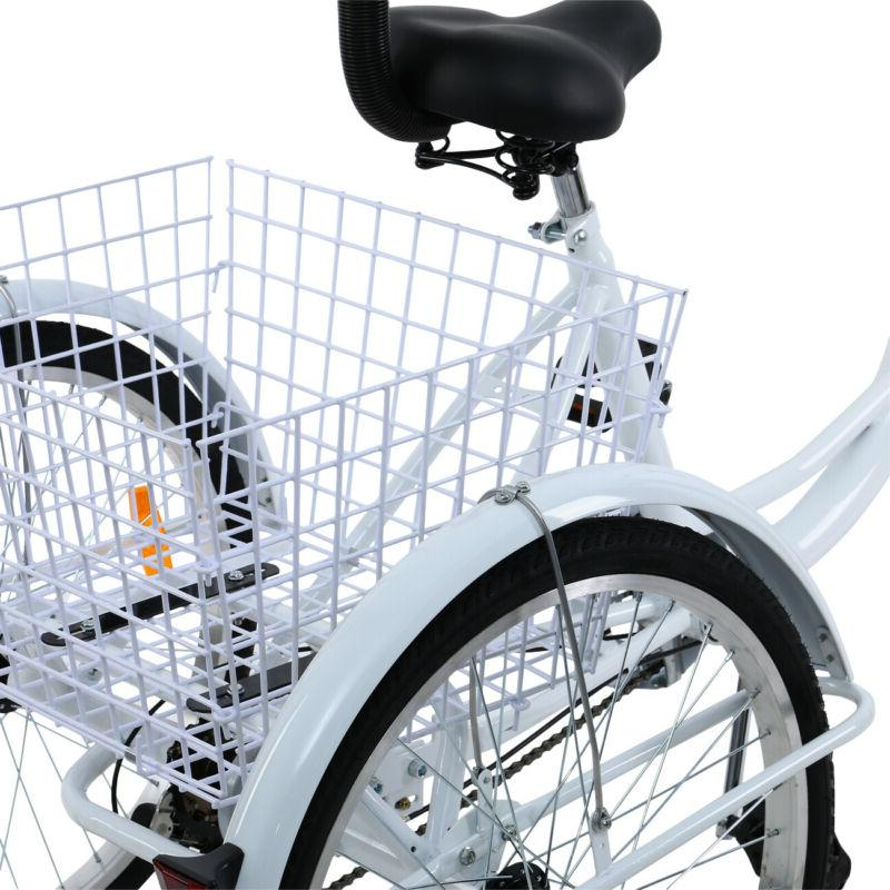 """Adult 24"""" Trike Bicycle Shimano Tricycle W/"""
