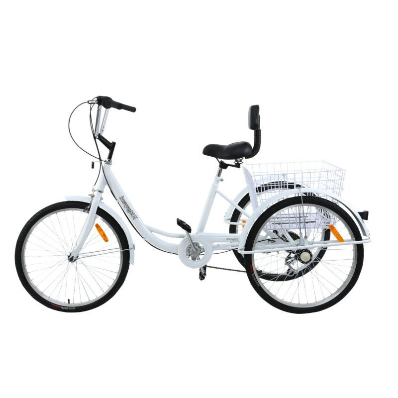 "Ridgeyard 24"" 3-Wheel Adult Tricycle Bike Bicycle Trike Crui"