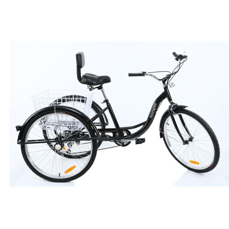 7-Speed Tricycle Trike Bike Cruise Basket Color