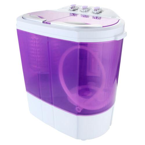 Portable Mini Washing Machine 10 LBS Compact Twin Tub Washer