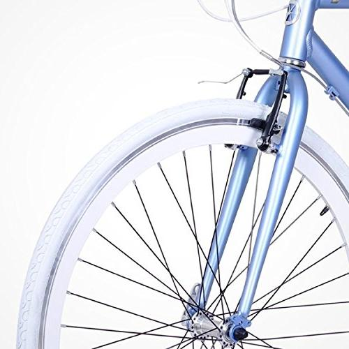 Gama Bikes Speed Cat 700c 3 Internal Commuter Road Bicycle, 21-Inch Denim