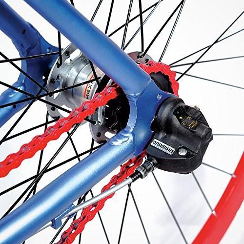 Gama Bikes 700c Internal Shimano Urban Commuter Road Bicycle, Denim